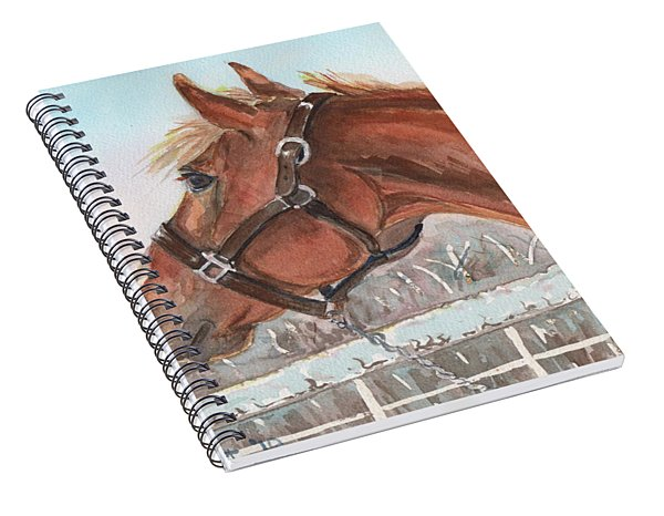 Horse Head Painting In Watercolor Spiral Notebook