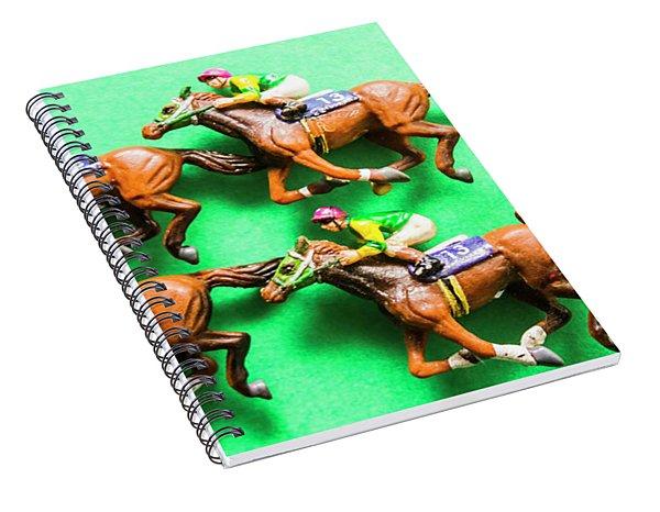 Horse Racing Carnival Spiral Notebook