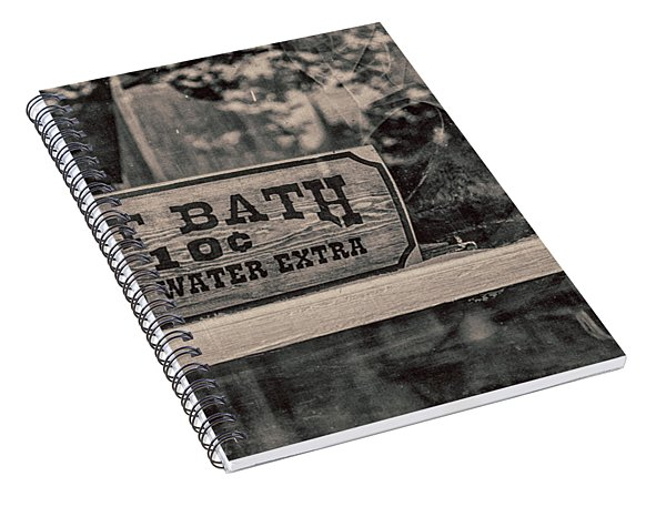 Hot Bath Spiral Notebook