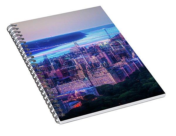 Hudson River Sunset Spiral Notebook