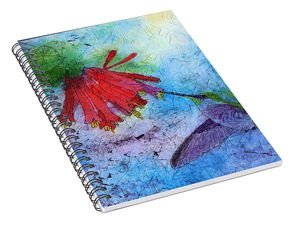 Hummingbird Batik Watercolor Spiral Notebook