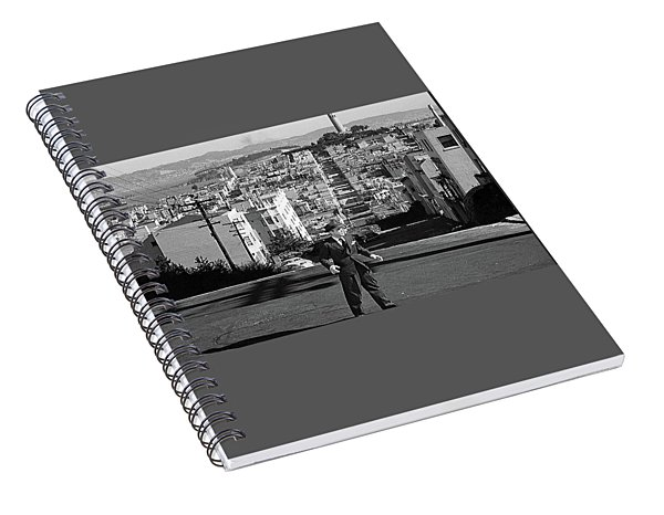 Humphrey Bogart Film Noir Dark Passage Telegraph Hill And Coit Tower San Francisco 1947 Spiral Notebook