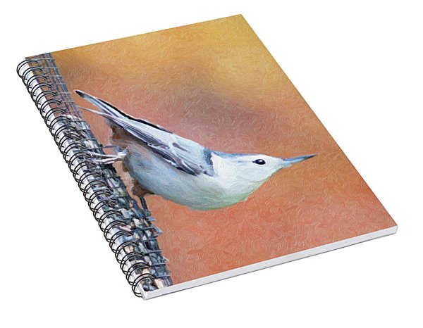 Hungry Nuthatch Spiral Notebook