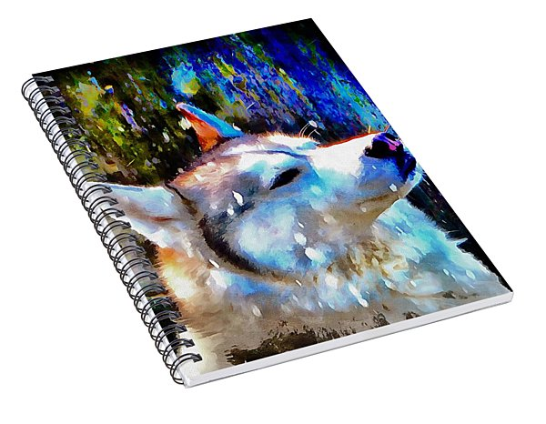 Husky Enjoying The Snow Spiral Notebook