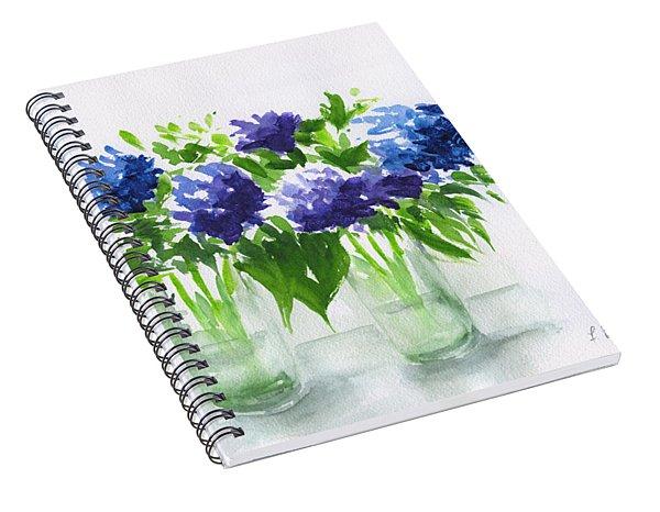 Hydrangeas At Vics  Spiral Notebook