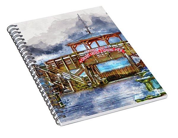 I Caught Mine At Cherry Grove Pier Spiral Notebook