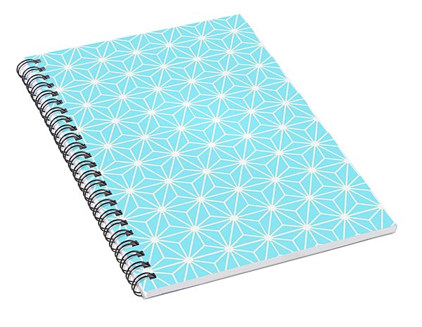 Ice Blue Geometric Flowers And Florals Isosceles Triangle  Spiral Notebook