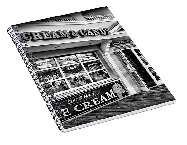 Ice Cream And Candy Shop At The Boardwalk - Jersey Shore Spiral Notebook