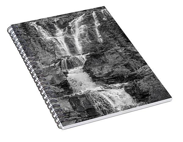 Icefields Waterfall Spiral Notebook