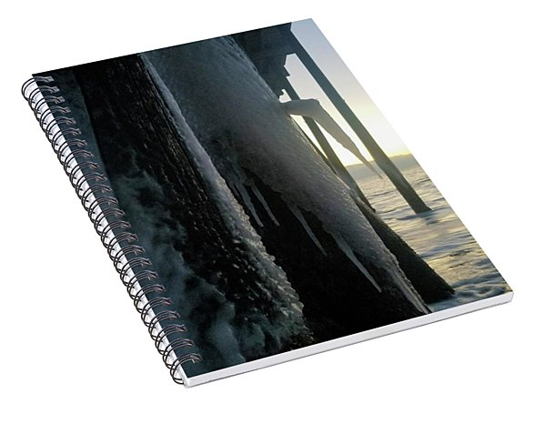 Icicles At Sunrise Spiral Notebook