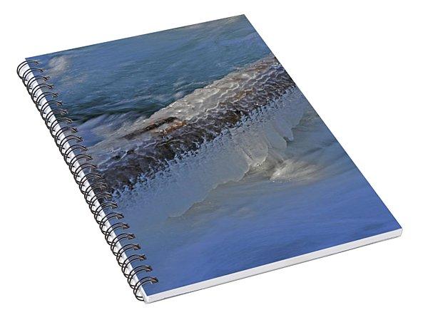 Icy Log Spiral Notebook