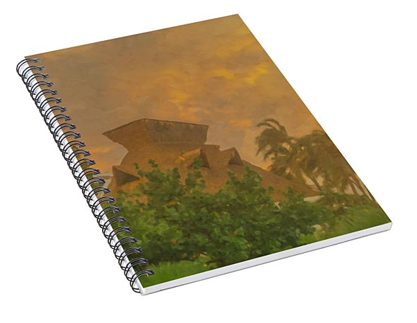 Incoming Storm On Playa Diamante Acapulco Spiral Notebook