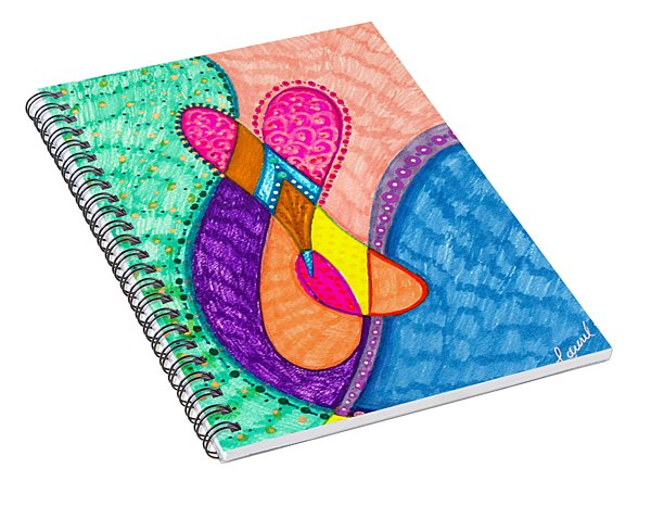 Inner Heart - V Spiral Notebook