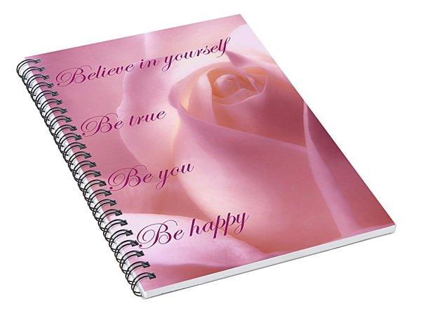 Inspirational Rose Spiral Notebook