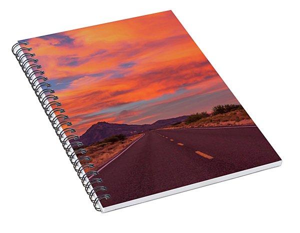 Intense Evening Clouds In Arizona Spiral Notebook