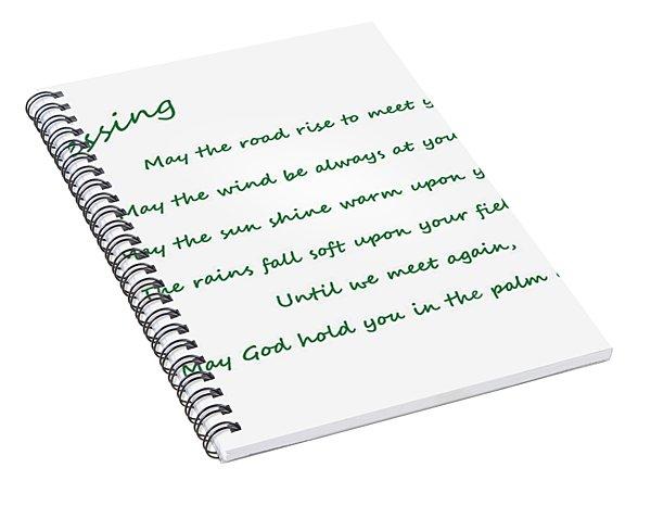 Irish Blessing 2 Spiral Notebook