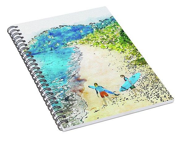 Island Surfers Spiral Notebook