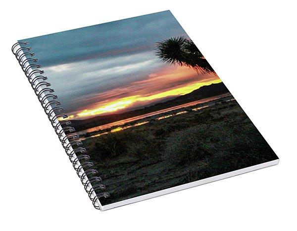 Jacob Tree Sunset - El Mirage Spiral Notebook