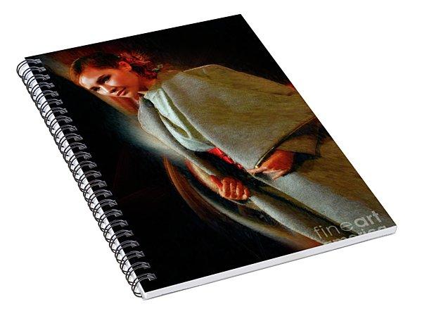 Jade Fashion Grey Jacket Beauty Spiral Notebook