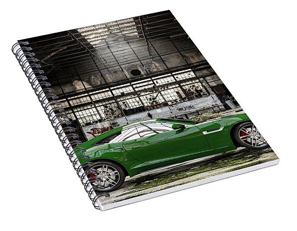 Jaguar F-type - British Racing Green - Side View Spiral Notebook
