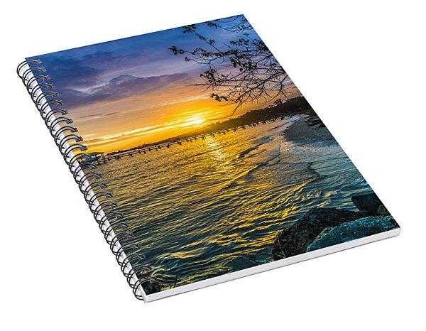 James Island Sunrise - Melton Peter Demetre Park Spiral Notebook