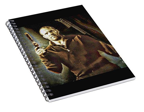 Jason Statham - Actor Painting Spiral Notebook
