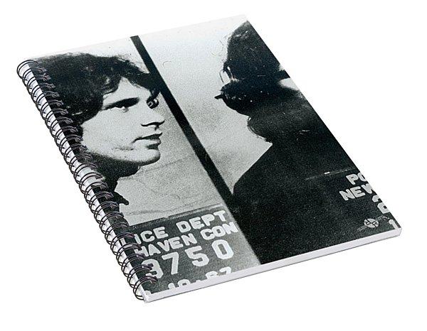 Jim Morrison Mug Shot Horizontal Spiral Notebook