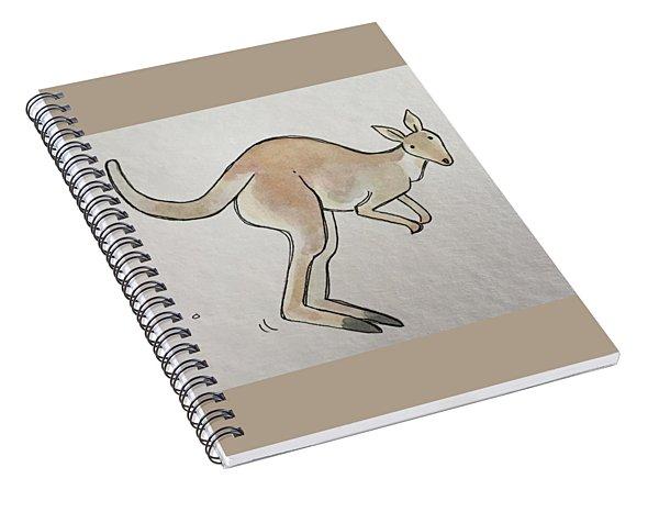 K Is For Kangaroo Spiral Notebook