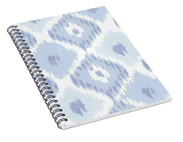 Kasbah Blue Ikat Spiral Notebook