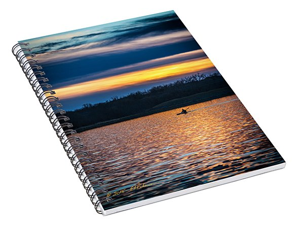 Kayak Sunset Spiral Notebook