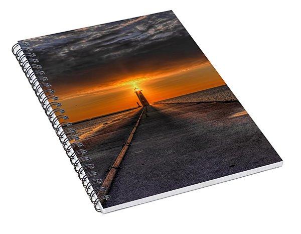 Kenosha Lighthouse Beacon Spiral Notebook
