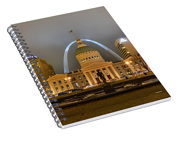 Kiener Plaza And The Gateway Arch Spiral Notebook