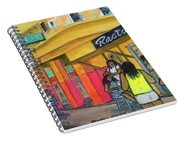 Kingston Jamaica Rasta Braid Shoppe Spiral Notebook