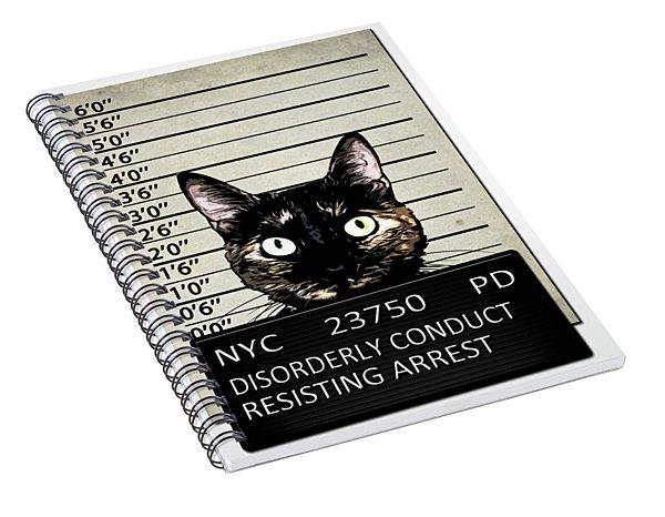 Kitty Mugshot Spiral Notebook