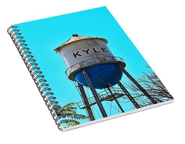 Kyle Texas Water Tower Spiral Notebook