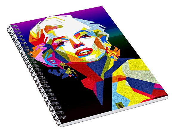 Lady Monroe Spiral Notebook
