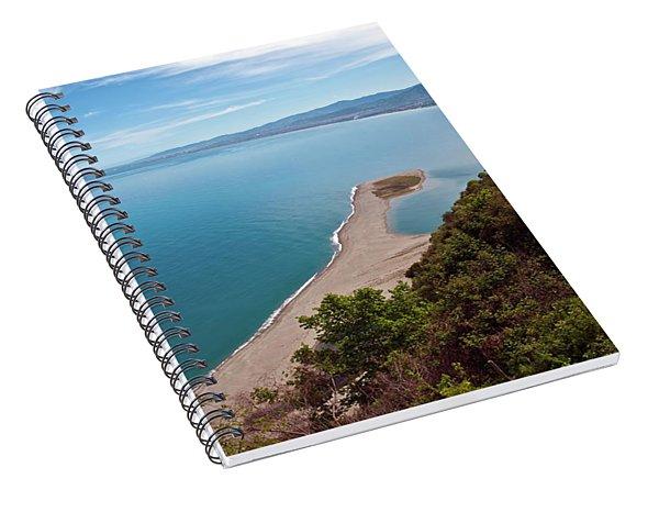 Lagoon Of Tindari On The Isle Of Sicily  Spiral Notebook