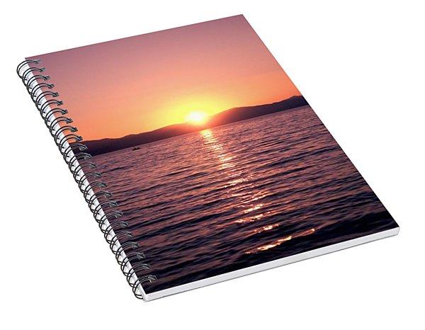 Lake Sunset 8pm Spiral Notebook
