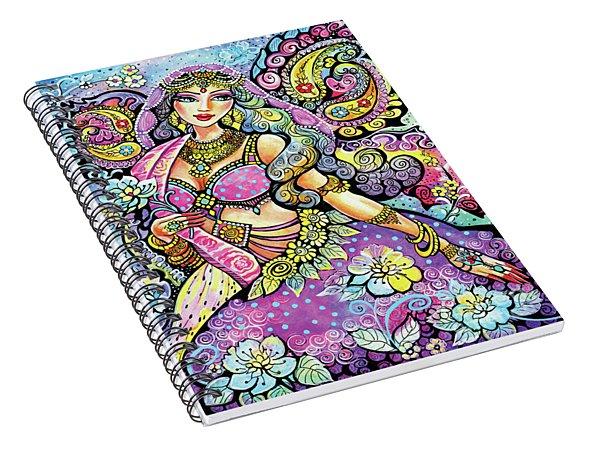 Purple Paisley Flower  Spiral Notebook