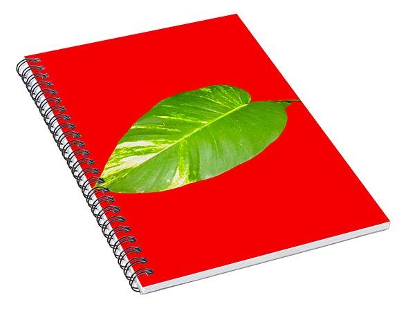 Spiral Notebook featuring the digital art Large Leaf Art by Francesca Mackenney