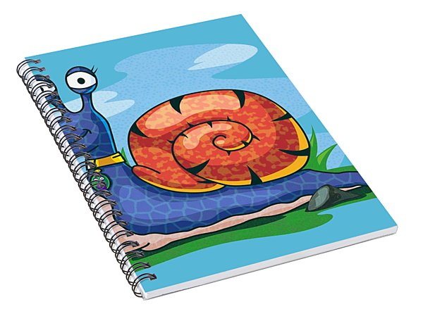 Larry The Snail Spiral Notebook
