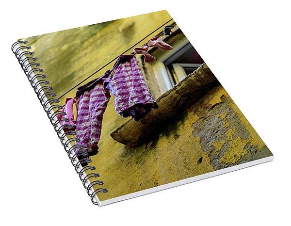 Laundry Hanging In Rovinj, Croatia Spiral Notebook