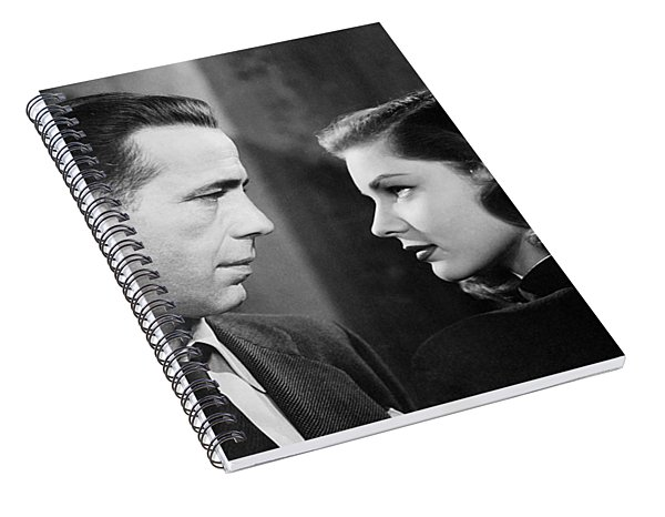 Lauren Bacall Humphrey Bogart Film Noir Classic The Big Sleep 2 1945-2015 Spiral Notebook