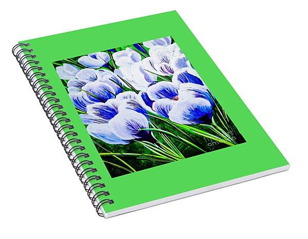 Lavender Blue Crocus Spiral Notebook