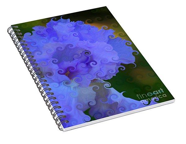 Lavender Curlicue Iris  Spiral Notebook