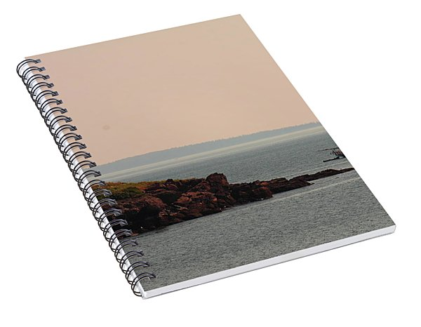 Lewis R French At The Curtis Island Lighthouse Spiral Notebook