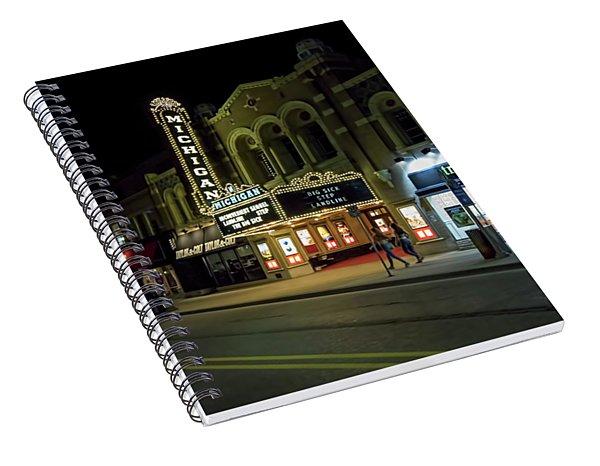 Liberty Street Nights Spiral Notebook