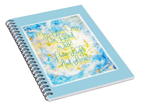 Light And Love Spiral Notebook