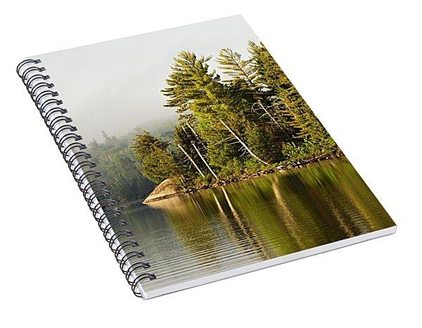 Light Fog On Slim Lake Spiral Notebook