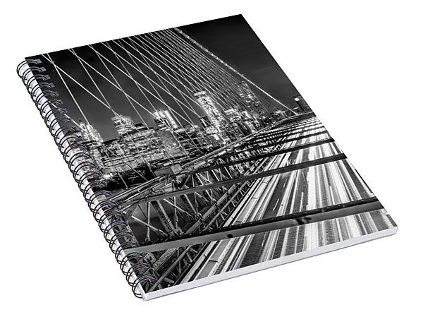 Light Trails Of Manhattan Spiral Notebook